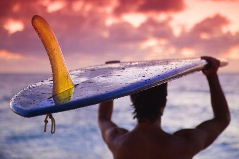Single-fin-surfer