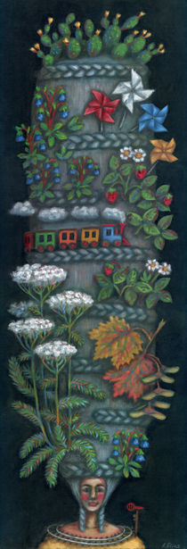Traveler chignon (Chignon voyageur) von Anastassia Elias