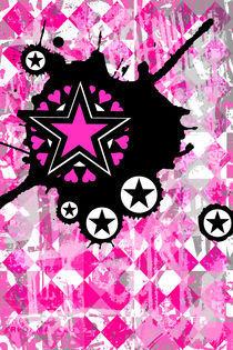 Pink Star Splatter von Roseanne Jones