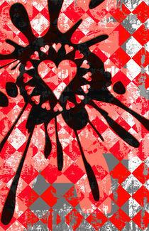 Love Heart Splatter von Roseanne Jones