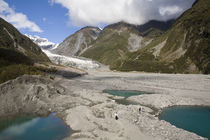 Terminal moraine near the Fox Glacier, West Coast by Ross Curtis