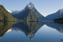 Mitre Peak rising from Milford Sound, New Zealand von Ross Curtis