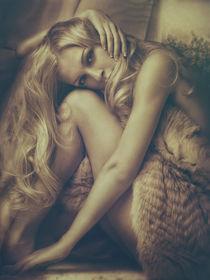 Romantic woman in gold tones. by Petrova JuliaN