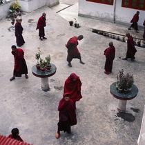 Buddhist monks in Himalayan Mountains von Eugene Zhulkov