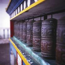 Praying wheels, India von Eugene Zhulkov