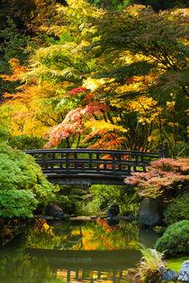 'Moon Bridge in Japanese Garden' von Chris Bidleman
