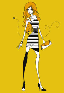 Bee Dress von Lisa Furze