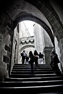 Stepping Up in Mont Saint-Michel by Joel Morin