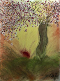 Cherry Blossom Tree of Mine, Our Rising Sun von Christina Rodriguez