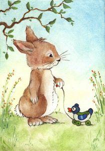 Tierkinder - Hase und Ente