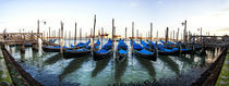 A Panorama of Parked Gondolas by Richard Susanto