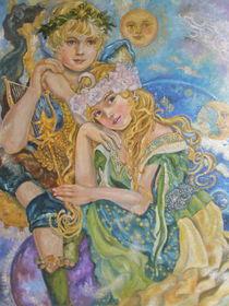 Yumi Sugai.An angel and a goddess of the moon. von Yumi  Sugai