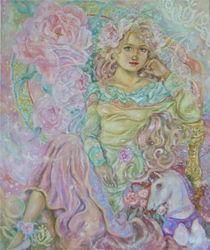 Yumi Sugai.The fairy of the pink tulip. von Yumi  Sugai