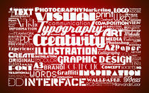 Red Typography by Milan van de Goor