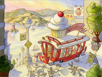 Cable Car Cupcakes 1 by Kristin Abbott