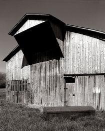 Barn with casket by © Joe  Beasley