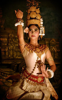Apsara Dancer in Cambodia by Keith Molloy