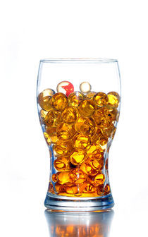 glass of jelly balls by Mordechay Shonak