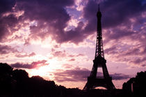 Paris Eiffel Tower Sunset by Peter  Crumpton