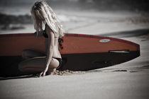 Woman Surfer Model by Peter  Crumpton