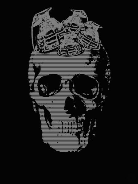 Skull Grenade Grenade skull desaturated art