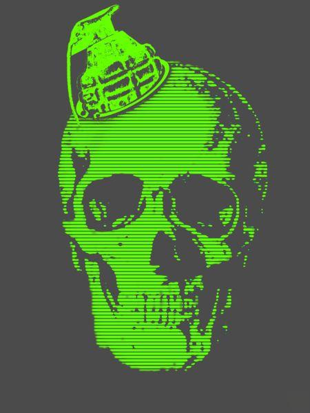 Grenade-skull-art-flakes