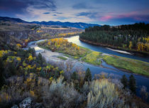 Snake River Autumn von Leland Howard