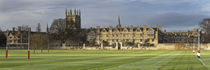 Panoramic of Merton College and the Oxford skyline across Merton College playing field, Oxford, Oxfordshire, Uk by Robert Read