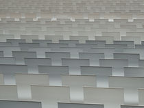 Rows of Chairbacks Creat an Abstract Composition