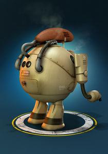 Worker Robot - back by Hossein Afzali