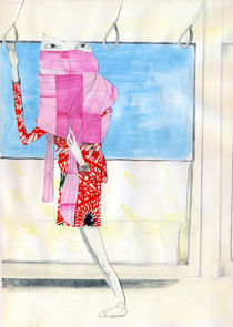 The great sweet pink scarf by Gaelle Charlot