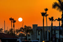 Sunset on Lido Isle, California von Eye in Hand Gallery