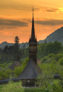 Wooden church from Maramures, Romania by Radu Razvan