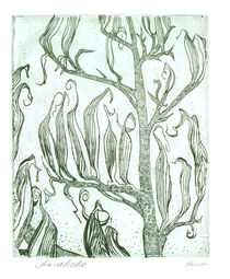 Flax Pods Gothic Green von Patricia Howitt