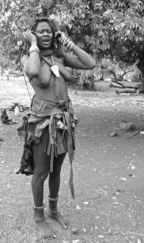 traditional himba woman by james smit