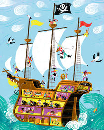 Pirates galleon von Migy Ornia-BLanco
