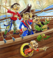Laughing Pirates by Tanja Bauerle