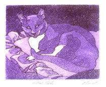 Jack Cat - Pillow Talk by Patricia Howitt