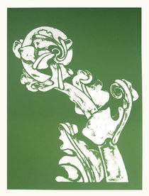 Fern Unfolding Kiokio Screen Print by Patricia Howitt