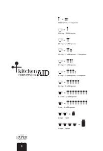 Black & White Kitchen Measurement Conversion Aid  von Donna Hainstock