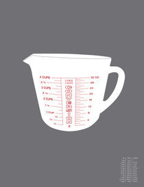 Imperial Measuring Cup Conversion von Donna Hainstock