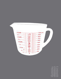 Metric Measuring Cup Conversion von Donna Hainstock