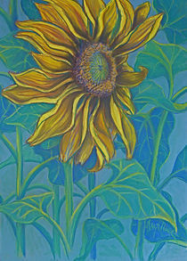 Big Golden Yellow Sunflower by Deborah Willard