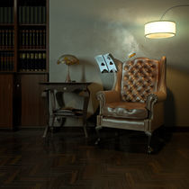 The invisible man is reading by csicso