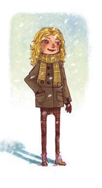 Winter Girl von Tautvydas Kazlaukas