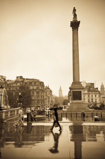 London. Trafalgar Square. Nelson's Column by Alan Copson