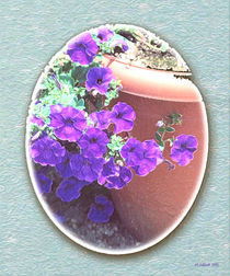 Petunias in a Pot by © CK Caldwell
