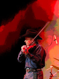 Red Hot Smokin' Fiddle Man by © CK Caldwell