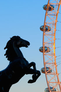 London, Boudica (Boadicea) Statue and London Eye by Alan Copson