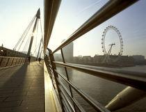London, London Eye and Hungerford Bridge von Alan Copson
